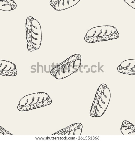Doodle Hot Dog seamless pattern background