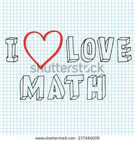 Doodle Love Math Written By Hand Stock Vector 237686008 - Shutterstock