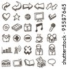 doodle icon set - stock vector