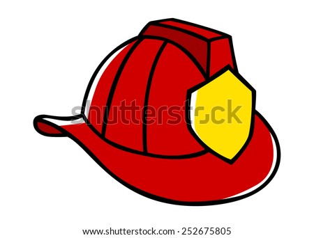 doodle illustration firefighter helmet stock vector