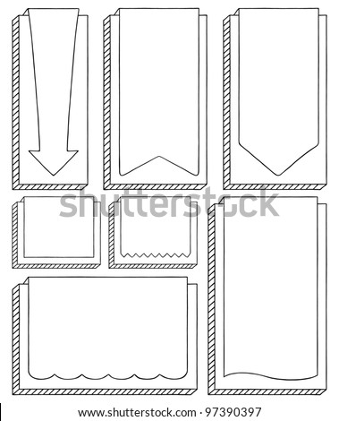 Doodle Labels - stock vector