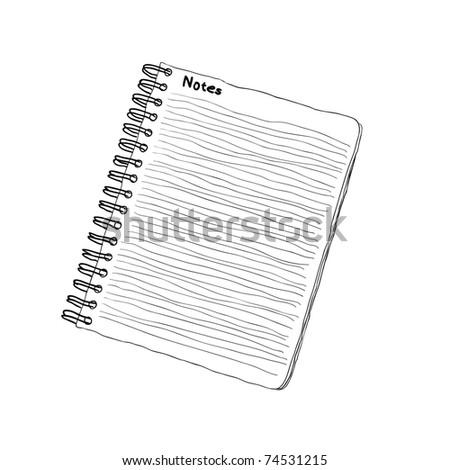 doodle notebook - stock vector