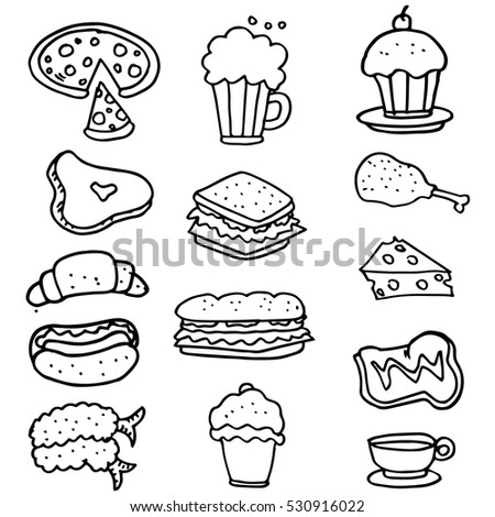 Doodle of food object hand draw vector art