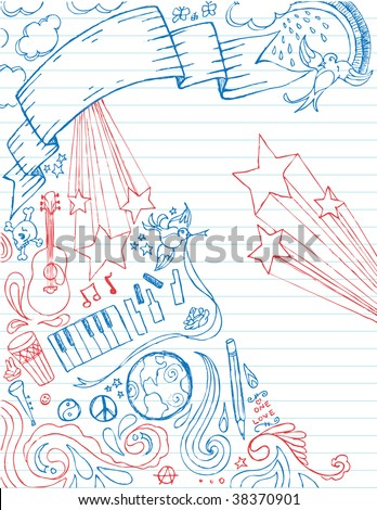 Doodle Page - stock vector