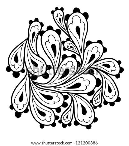 Doodle paisley element. - stock vector