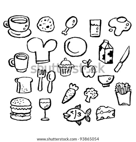 doodle series - food - stock vector