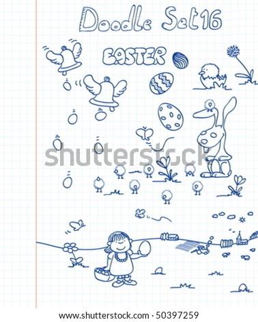 Doodle Set 16 - stock vector