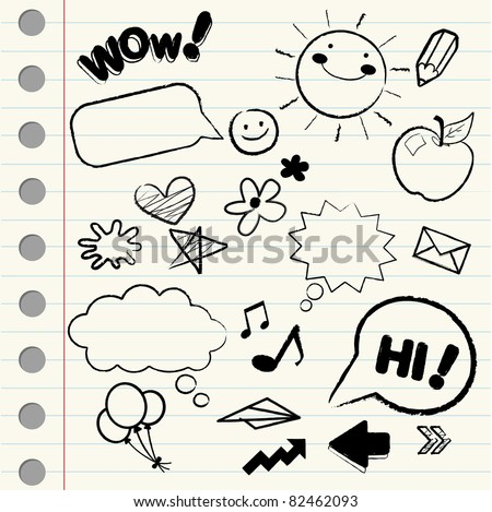 Doodle/ sketch icons - stock vector