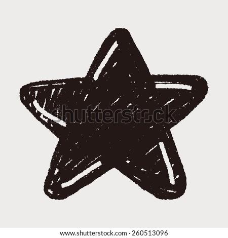Doodle Star - stock vector