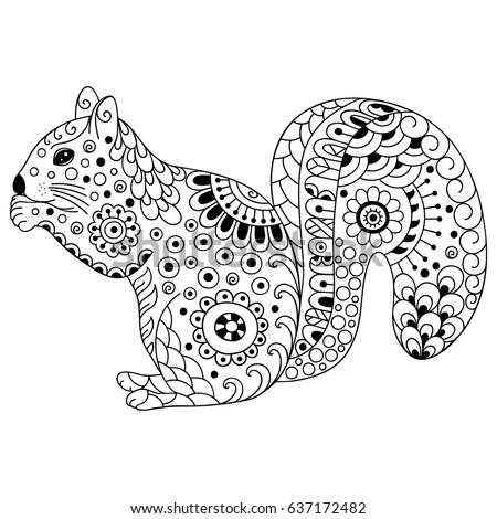 Doodle Squirrel Stock Images Royalty Free Images Vectors