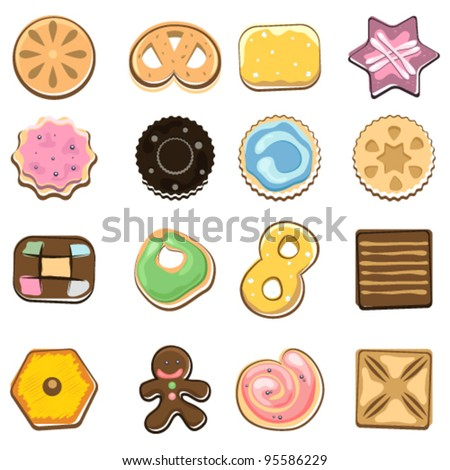 Doodle Sweet Cookies - stock vector