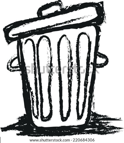 how to draw the contents of a trash can