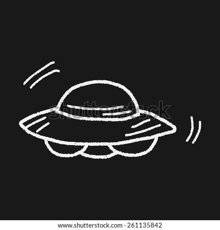 Doodle Ufo - stock vector