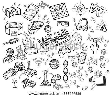 Notebook Paper Doodles Set Number 2 Stock Vector 58693042 - Shutterstock