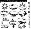 doodle vector set : weather - stock vector