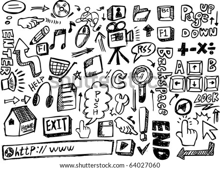 doodle web - stock vector