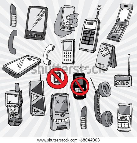 Doodled Mobile Phones and Other Devices