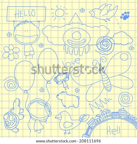 Doodles - stock vector