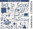doodles - Back to school - stock vector