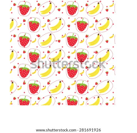 doodles cute fruits - stock vector