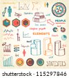 Doodles Info-graphics set - stock vector