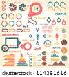 Doodles Info set - stock vector