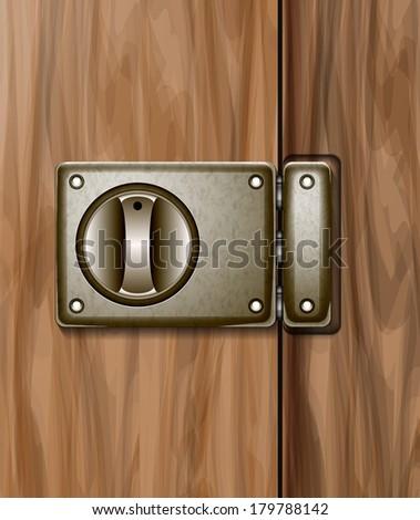 door abstract vector illustration background eps 10 / door - stock vector