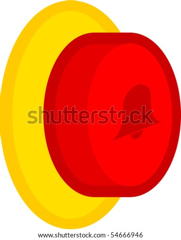 door bell button - stock vector