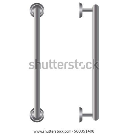 Door Handle Isolated On White Background Stock Vector 580351408 - Shutterstock  sc 1 st  Shutterstock & Door Handle Isolated On White Background Stock Vector 580351408 ...