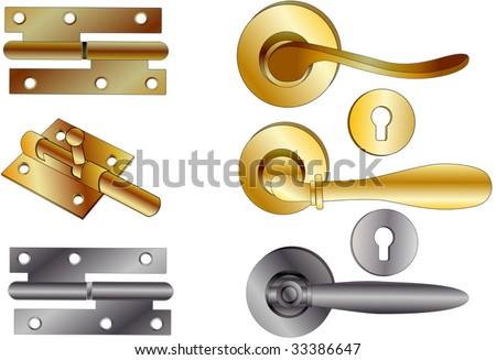 door handles of a veil and latch - stock vector