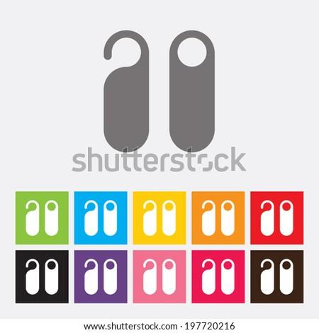 Door hanger tags icon - Vector - stock vector