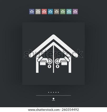 Door house opening - stock vector