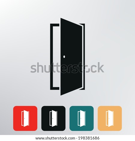 door icon.  - stock vector