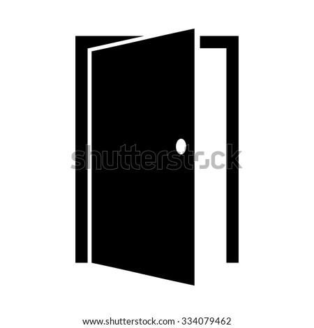 open door silhouette stock images royaltyfree images