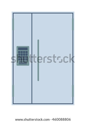 Door isolated vector illustration. - stock vector
