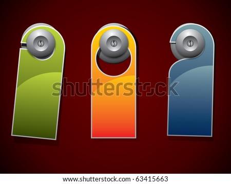 Door knob or hanger sign - do not disturb - stock vector