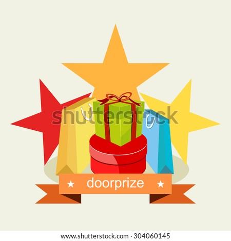 Door prize. Prize Gift concept. & Door Prize Prize Gift Concept Stock Vector 304060145 - Shutterstock pezcame.com