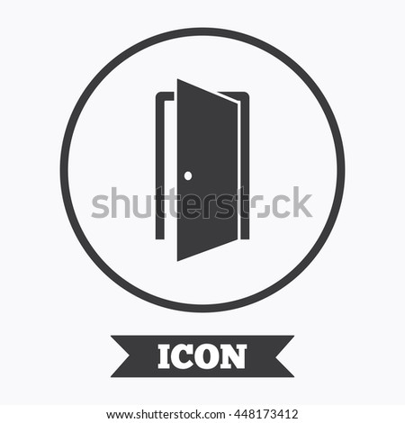door symbol door sign icon enter or exit symbol