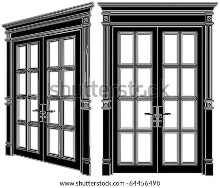 Door Vector 02 - stock vector