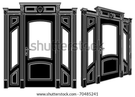 Door Vector 03 - stock vector