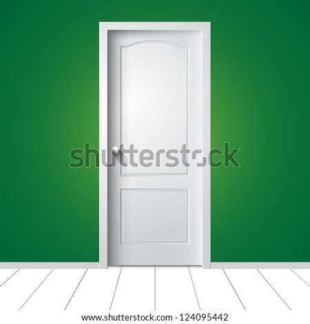 Door. Vector illustration - stock vector