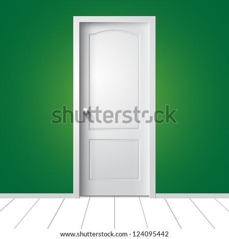 Door. Vector illustration - stock vector