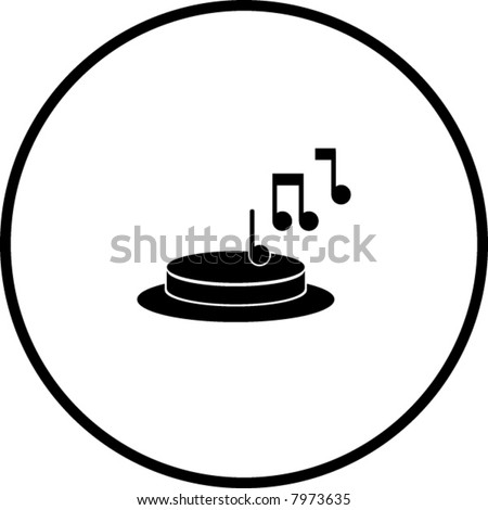 doorbell button symbol - stock vector