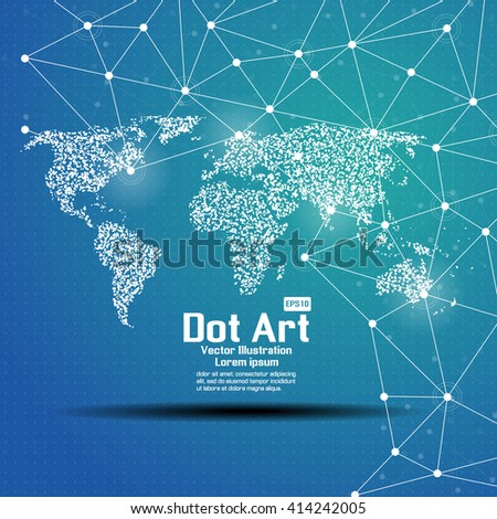 Dot art design world map icon stock vector 414242005 shutterstock dot art design of the world map icon logo gumiabroncs Images