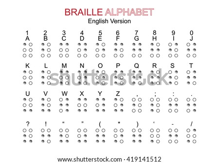 Braille codes and calculations with dot writing alphabets