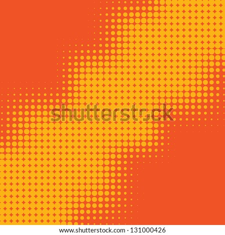 Dot Gain - Halftone dots vector background