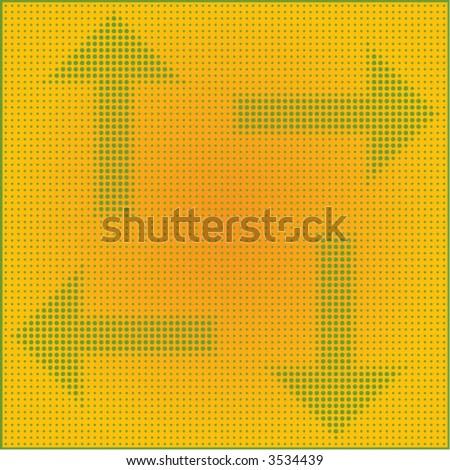 dot matrix arrows - stock vector