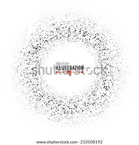 Dots background. Network concept. Vector illustration for graphic design. - stock vector