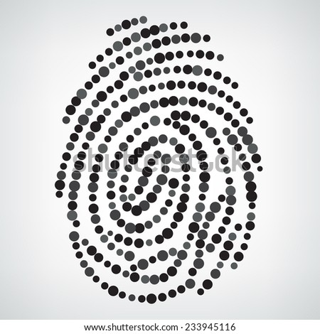 Dotted Finger Print  - stock vector