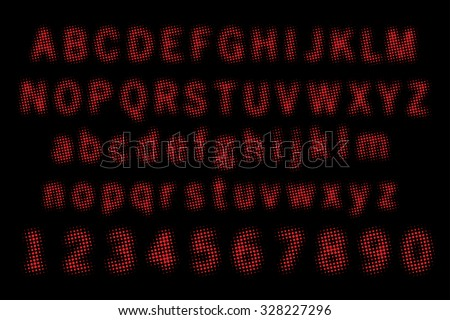 Dotted font vector illustration. - stock vector